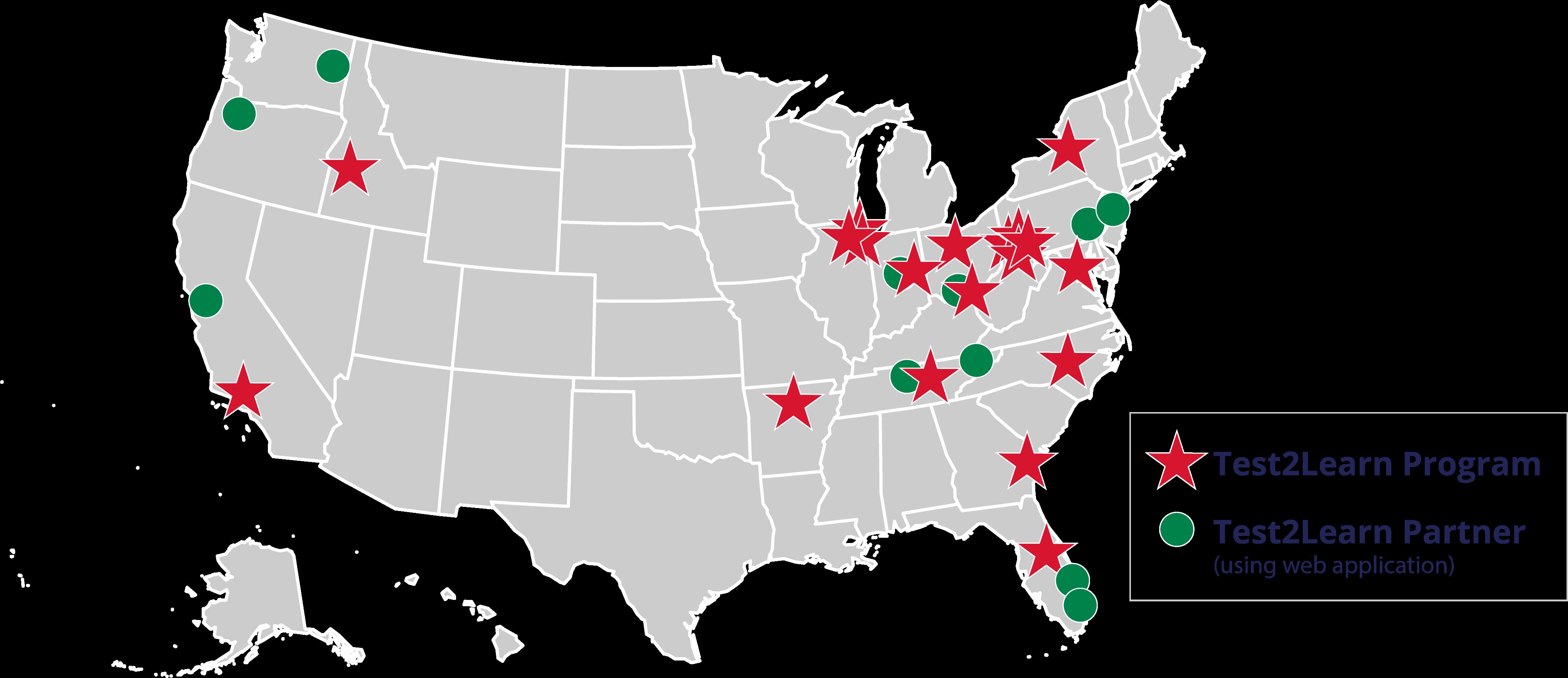 Past Program map